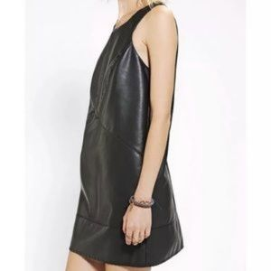 UO Silence + Noise Faux Leather Mini Dress